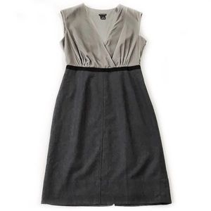 Club Monaco • Velvet and Wool Shift Dress